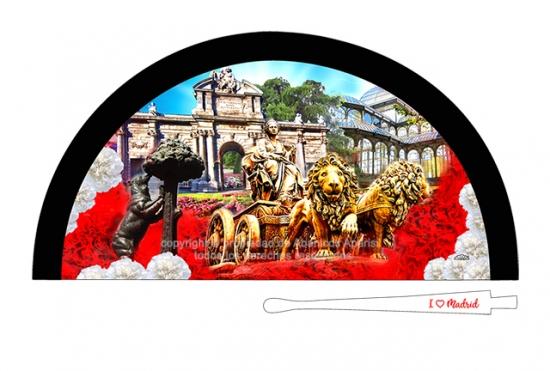 70209 – Acrylic fan Madrid Cibeles flowers