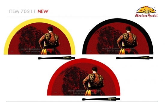 70211 – Acrylic fan Spain bullfighter bull