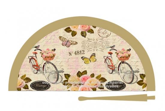 70217 - Abanico acrílico bicicleta
