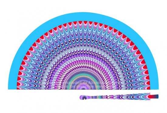 70221 - Abanico acrílico abstracto puntas