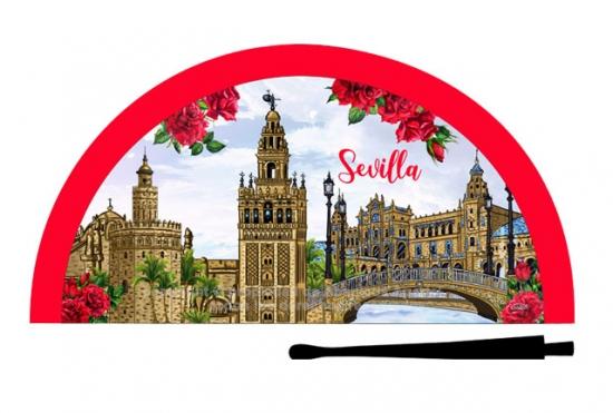 70235 - Abanico acrílico Sevilla monumentos