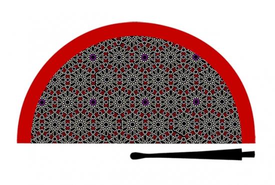 70700 - Abanico acrílico mosaico