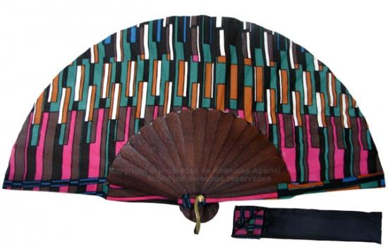 8054- Handcrafted Wooden Fan