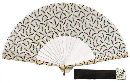 8058- Handcrafted Wooden Fan