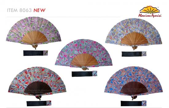 8063 – Handcrafted Wooden Fan