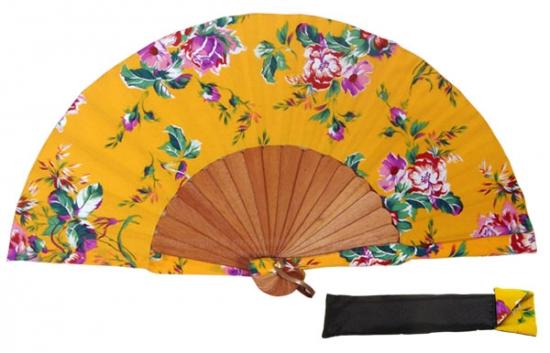 8065 – Handcrafted Wooden Fan
