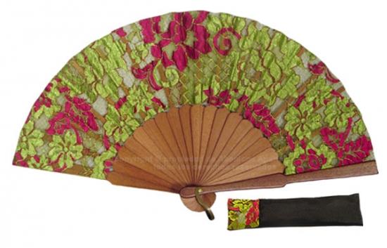 8072- Handcrafted Wooden Fan
