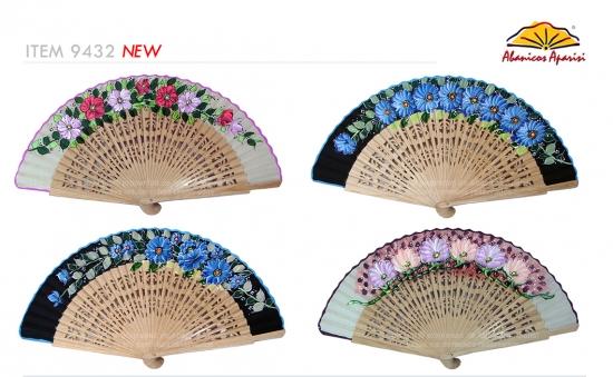 9432 – Fretwork wooden fan 1 side