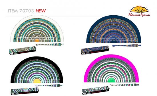 523 – Fan in natural wood tile print 1 side